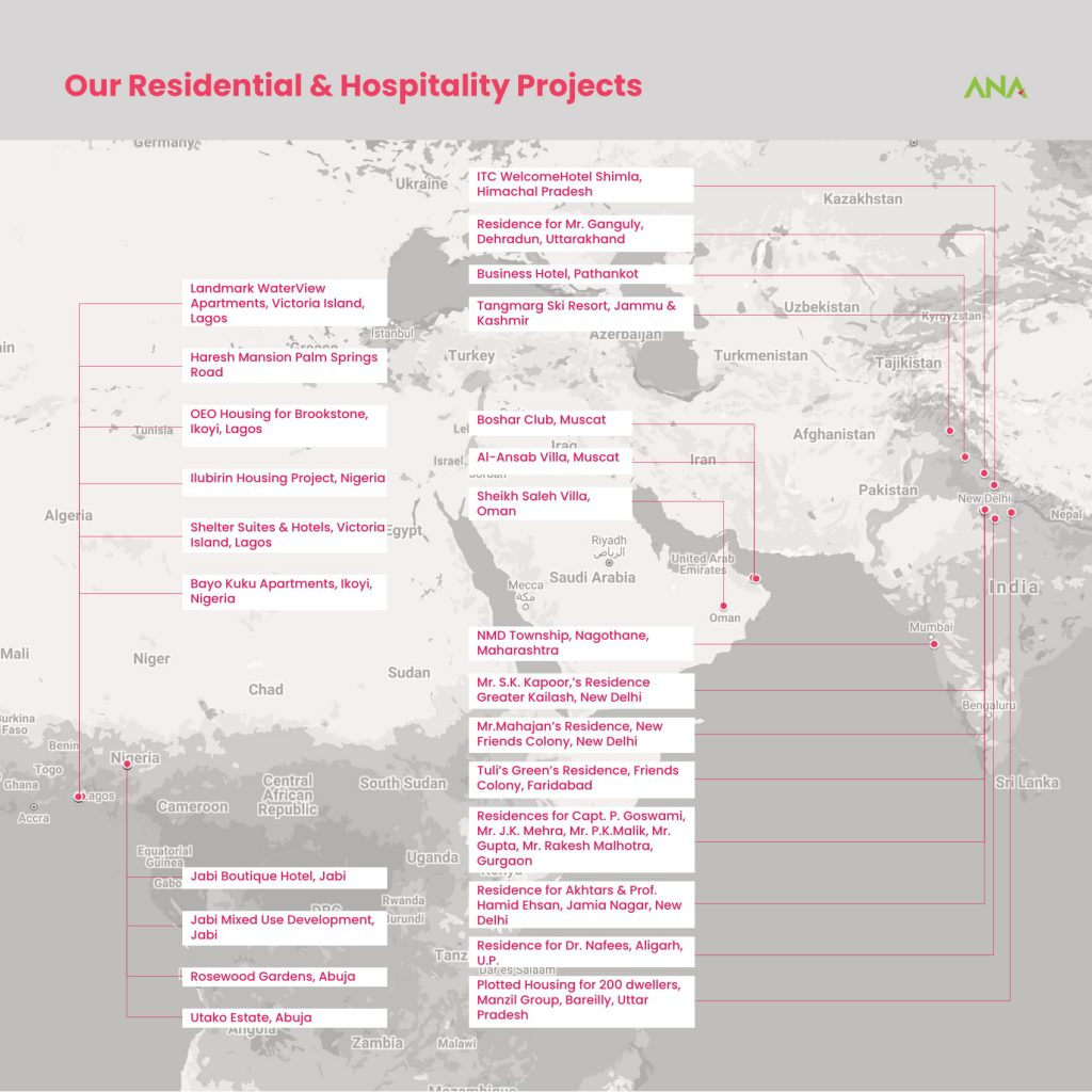 ANA Design Studio Residential & Hospitality Projects